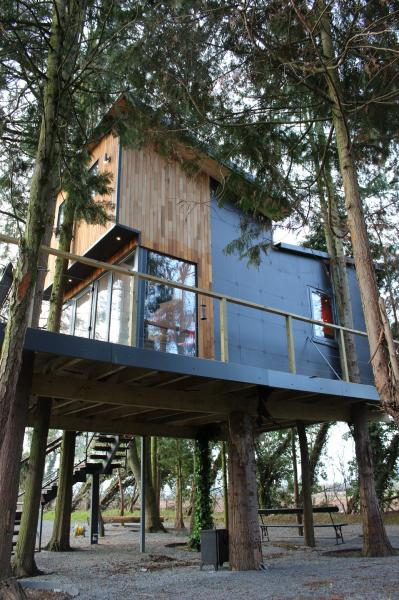 luxury treehouse in Wye Valley