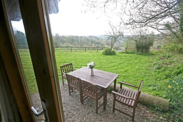 countryside views with outdoor furniture