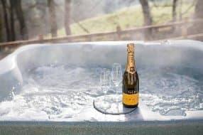 hot tub at The Pamper Van
