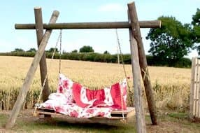 chill out on the swing