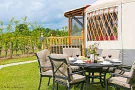 luxury yurt for five