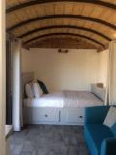 Double bed in the 1944 Goods Wagon
