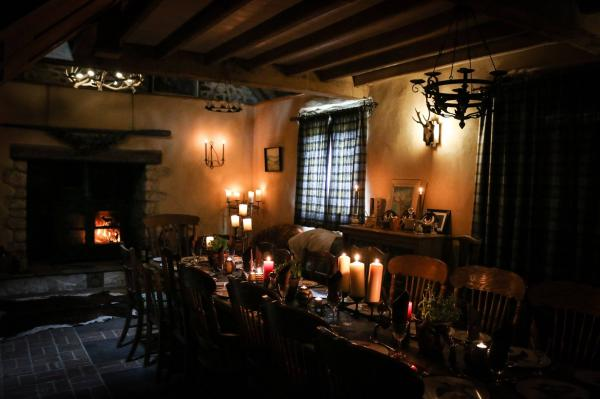 cosy with fire and candles