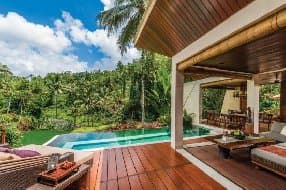Set in a lush paradise