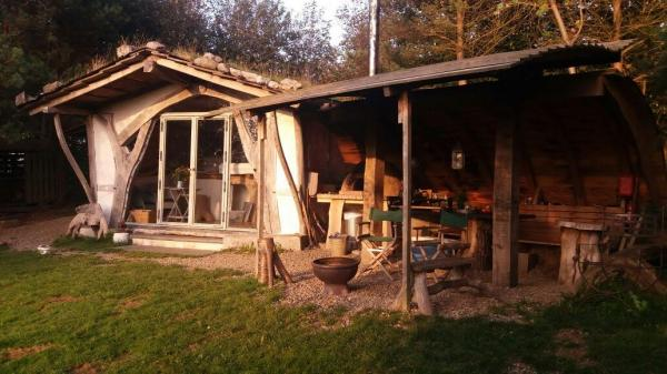 cabin with camp kitchen