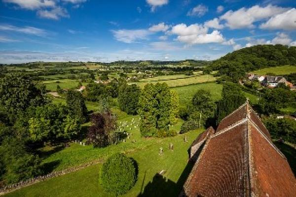 rolling countryside on the doorstep