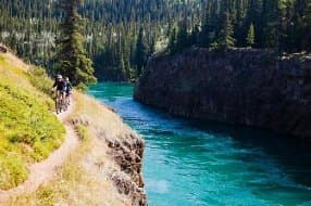 Boreale Mountain biking in Canada