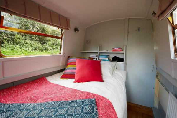 Bedroom on the narrowboat