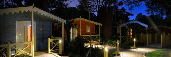 Gir Lion Lodges at night