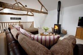 woodburner in sitting room
