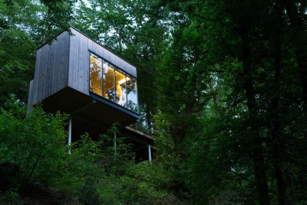 secluded woodland setting