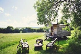 Exterior of shepherds hut