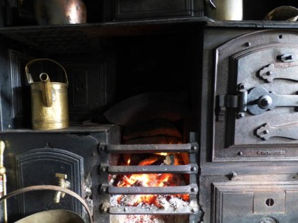 cosy up infront of the wood burning stove