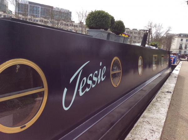 Jessie the narrowboat in London