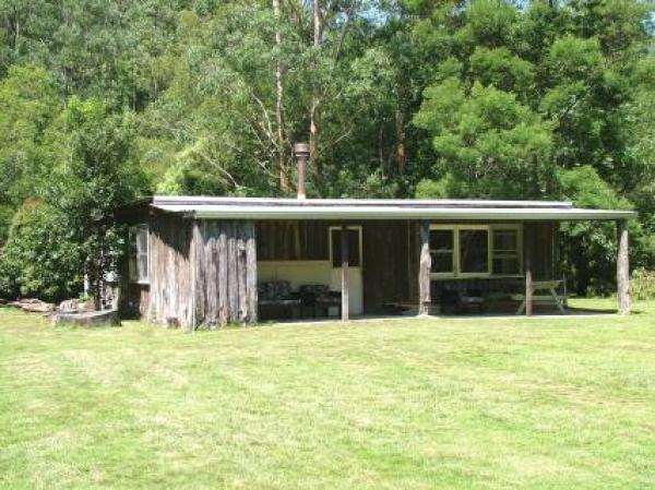 rusic cabin at naturist camp