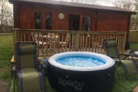 hot tub by the cabin