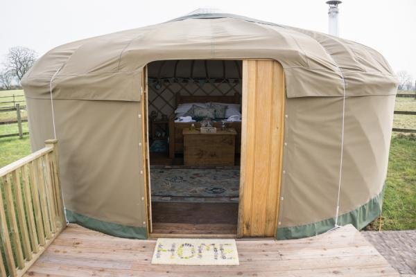 Calwich yurt entry