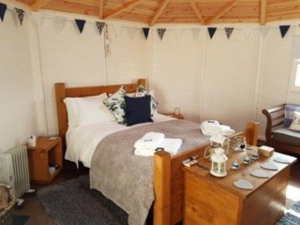 Interiors of Bluebell yurt