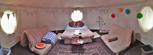 Decorative yurt interior