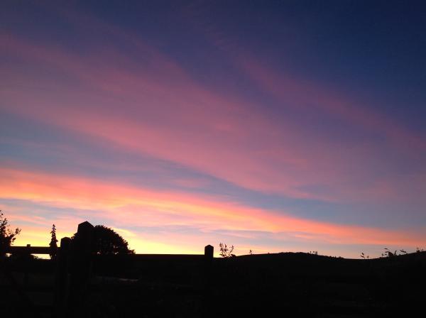 beautiful sky on a peaceful night