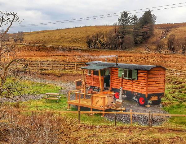hidden hut and hot tub