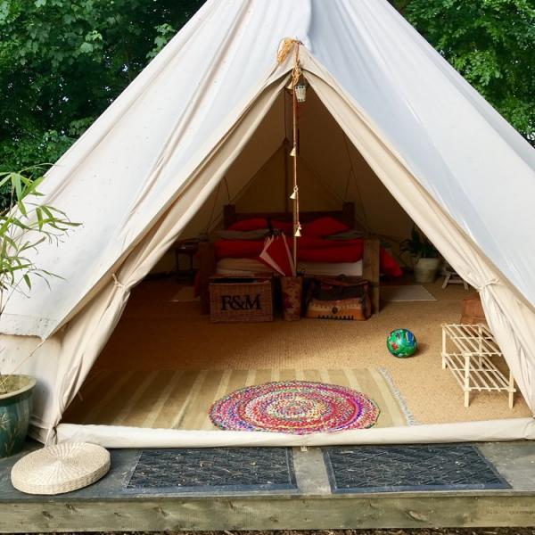 Interiors of king bell Tent
