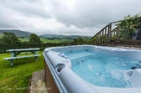 the hot tub with lovely views