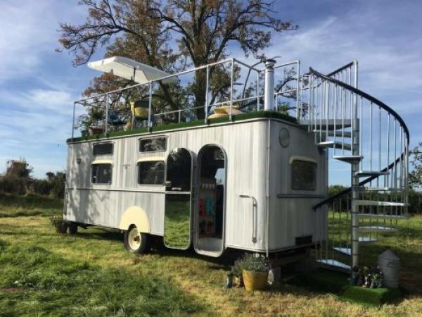 uniquely restored caravan