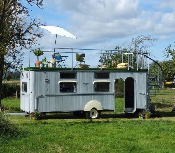 unique glamping vehicle
