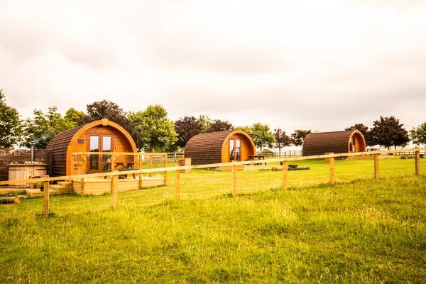 3 pods at Wingbury Farm Glamping