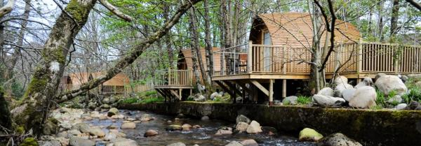 Lodges along the riverbank