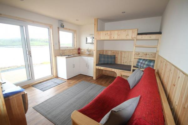 pod lounge and bunkbeds