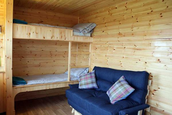 bunk beds and sofa bed