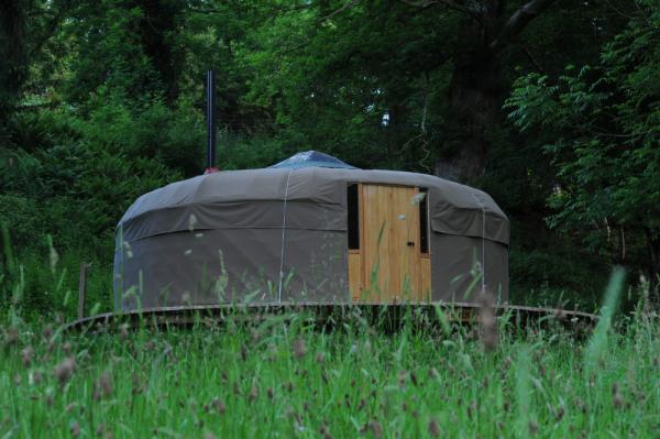 yurt at Redwood Valley