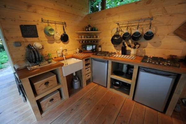 Facilities in woodland kitchen