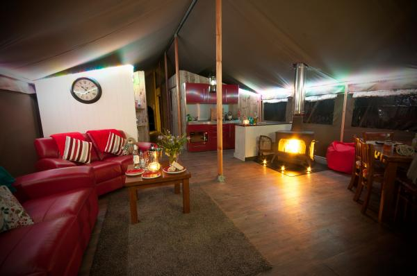 Double bedroom in tent