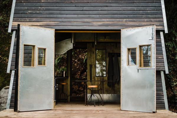 large doors bring the outside in