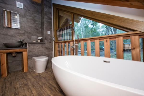 Bath with outdoor views