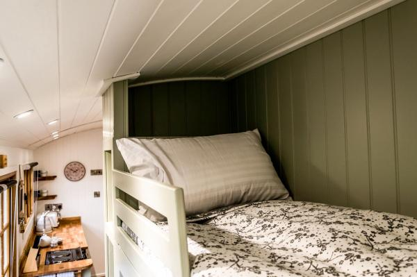Individual bunk in shepherds hut