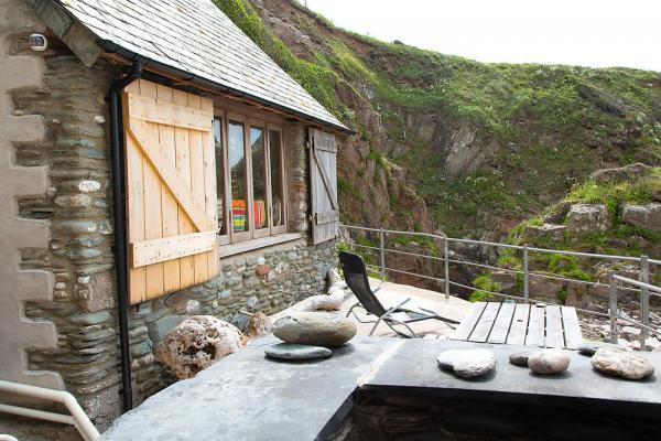 decking overlooking the beach