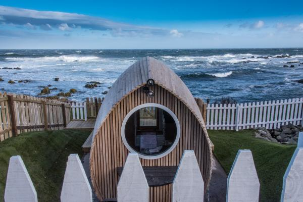 the pod is close to the sea
