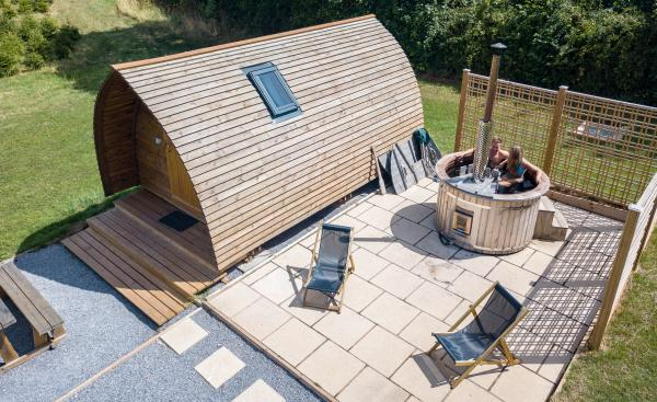 Wigwam with private Hot Tub
