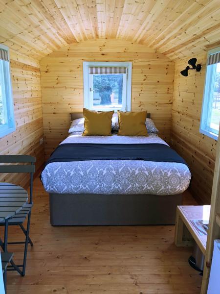 Pretty shepherds hut interior