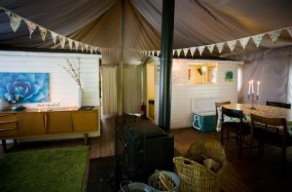 Woodland tent interior