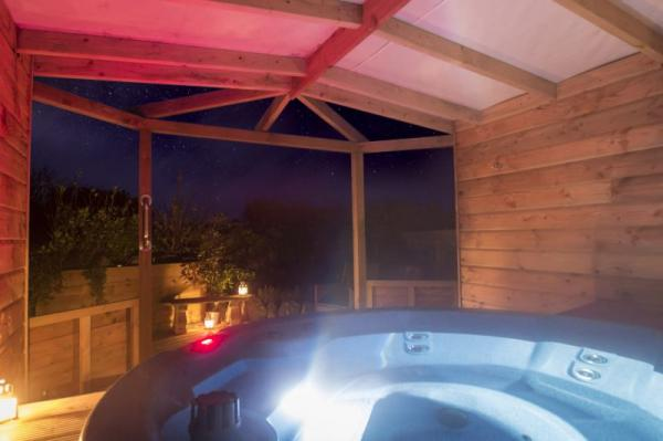 hot tub under cover