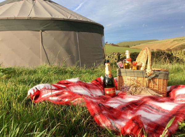Picnic on the yurt lawn