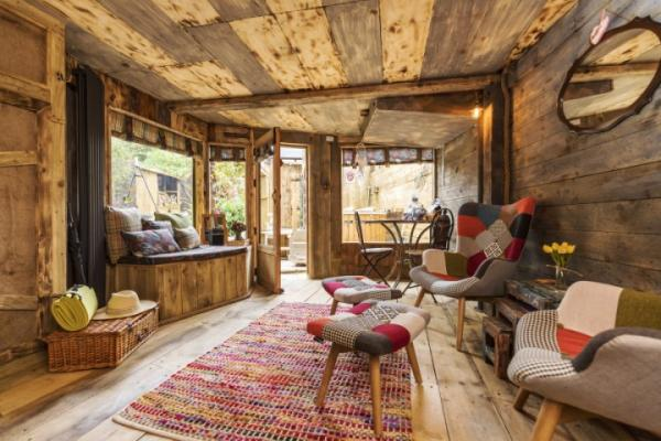 cosy wood interior