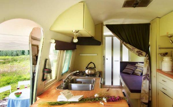 Airstream kitchenette