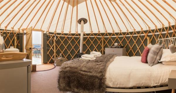 Luxury yurt interior