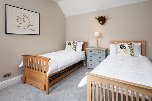 Sylish twin bedroom
